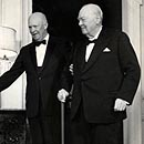 Photo: Churchill and Eisenhower 'agreed to cover up RAF plane's UFO encounter during WWII', secret files reveal