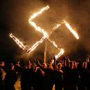 Photo: Neo-Nazis hold swastika burning in west Georgia town after Newnan rally